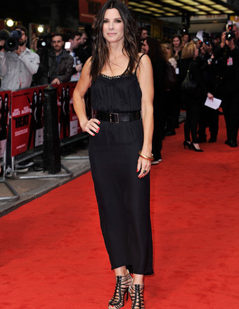 Sandra Bullock Sizzles at 'Heat' Premiere in Backless Little Black Dress