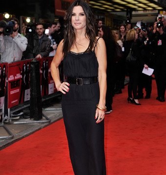 Sandra Bullock Sizzles at 'Heat' Premiere in Backless Little Black Dress