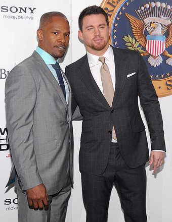 Jamie Foxx & Channing Tatum Talk 'White House Down' & 'Magic Mike' Sequel