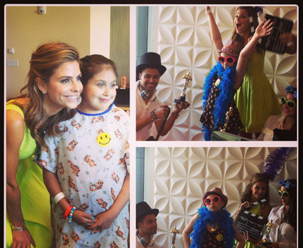 Maria Menounos Hosts 'Day of Beauty' at Children's Hospital