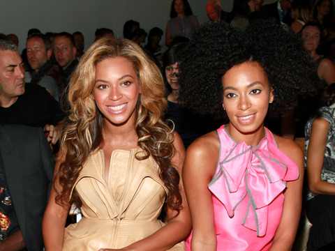 Beyoncé and Solange Knowles M.I.A. at Dad's Wedding