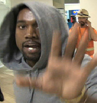 Video! Kanye West Snaps at Airport Paps!