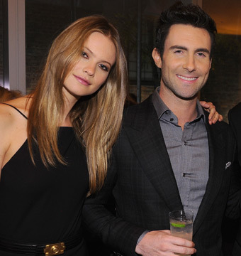 Adam Levine Engaged! Model Fiancée Celebrates by Posing in Undies?