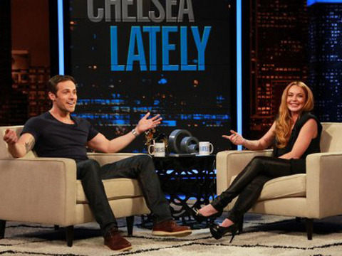 Video! Watch Lindsay Lohan's Hilarious Hosting Stint on 'Chelsea Lately'