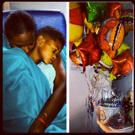 Usher's Ex, Tameka Foster, Shares Touching Pic of Son in Hospital