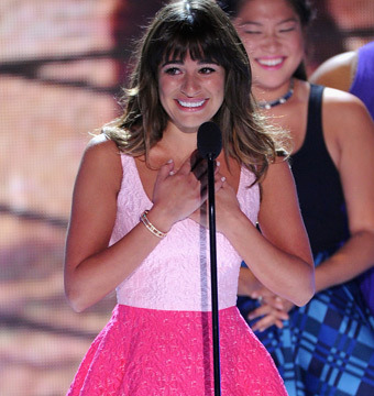 Video! Lea Michele's Tearful Teen Choice Tribute to Cory Monteith