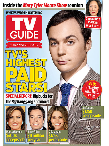 TV Guide Magazine Reveals Highest-Paid TV Stars