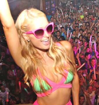 Pics! Paris Hilton's 'Foam and Diamonds' Party in Ibiza