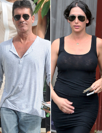 Simon Cowell and Lauren Silverman Take Romantic Beach Stroll