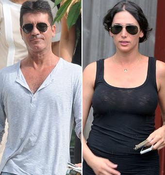 Simon Cowell and Lauren Silverman Take Romantic Beach Stroll
