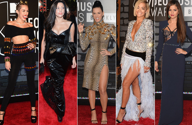 MTV VMAs Fashion! Pigtails, Grills and Lots of Leg Bombing