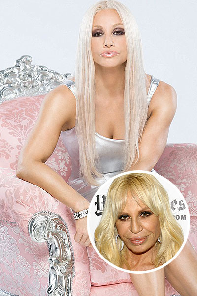 Pic! Gina Gershon Unrecognizable as Donatella Versace
