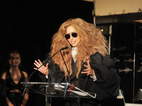At the Fashion Media Awards with Lady Gaga and Jessica Biel