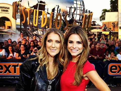 Celine Dion Sings for the Fans at Universal Studios Hollywood!