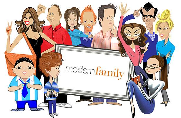 See robert risko print of modern family cast for Modern family printer