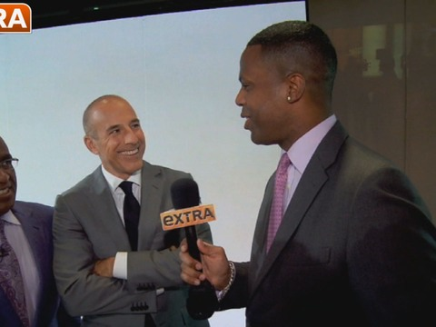 Matt Lauer and Savannah Guthrie on Today's Hot Topics