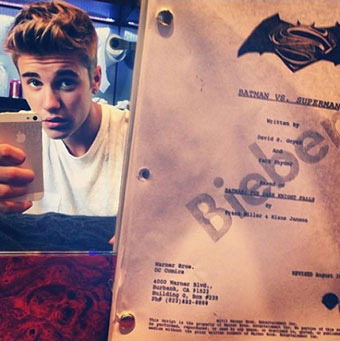 Justin Bieber Reads 'Batman vs. Superman' Script, Hints at Robin Role