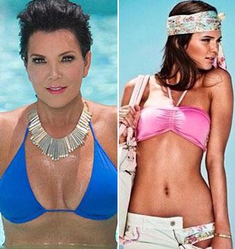 Bikini Battle: Kris Jenner vs. Kendall Jenner