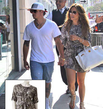 Get the Look! Jennifer Lopez Rocks $49 Snakeskin Print Dress