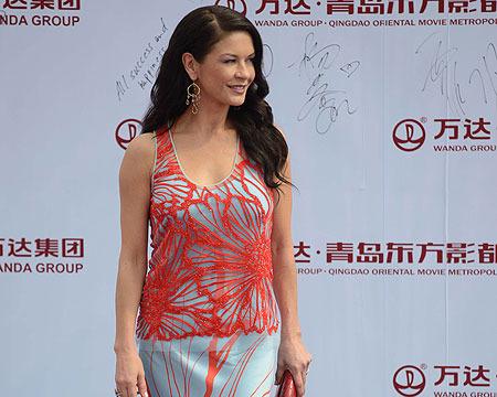 Catherine Zeta-Jones Goes Solo in China, Michael Douglas Thanks His Wife