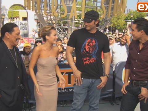 Robert Rodriguez and Danny Trejo Talk 'Machete Kills' at Universal Studios Hollywood