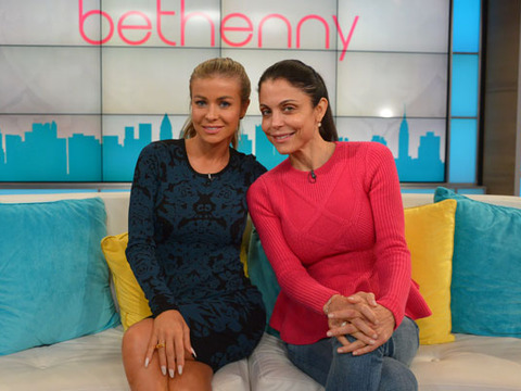 Stars Without Makeup! Bethenny Frankel and Carmen Electra