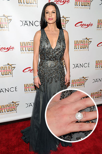 What Divorce? Catherine Zeta-Jones Spotted Wearing Wedding Ring