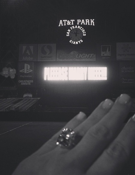 See Kim's Engagement Ring: An Instagram Experience!