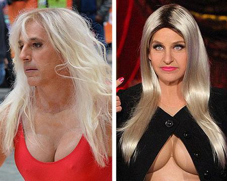 Halloween Cleavage Battle! Matt Lauer vs. Ellen DeGeneres