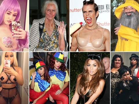 Wild Hollywood Halloween! Which Star Forgot Her Pants?