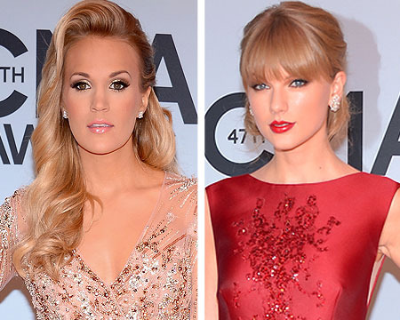 Photos! Carrie Underwood, Taylor Swift Sparkle at CMAs