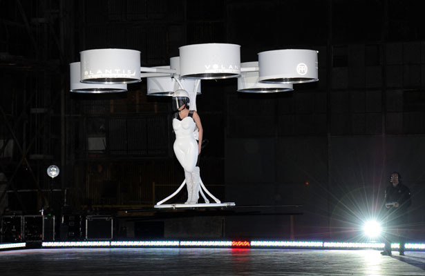 Lady Gaga Unveils Flying Dress... See It Now!