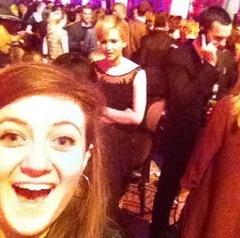 Jennifer Lawrence's Secret 'Catching Fire' Date Revealed… Thanks to Fan Selfie!