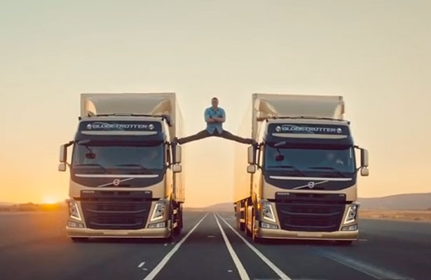 'Epic' Video! Jean-Claude Van Damme Does the Splits Between Two Trucks
