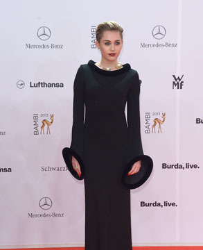 Miley Cyrus Shocker! See What She Wore to the Bambi Awards
