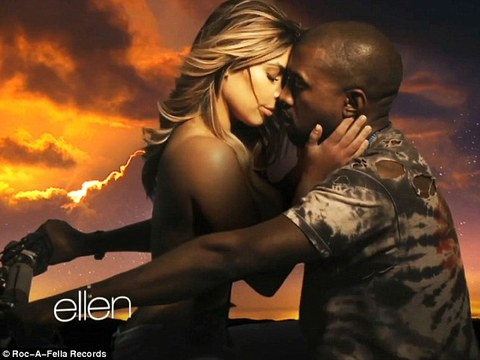 Music Video! Topless Kim Kardashian Straddles Kanye West for Hot Joyride in 'Bound 2'