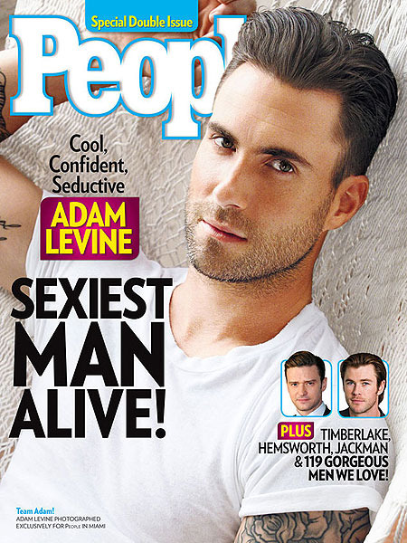 Adam Levine Wins the Coveted 'Sexiest Man Alive' Title