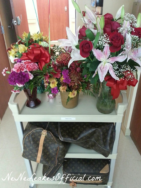 NeNe-Leakes-Packing-Up-Hospital-Bags-and-Flowers-Before-Going-Home