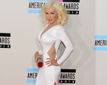 Teeny Tiny Xtina! See Christina Aguilera's Slimmed-Down Figure at AMAs