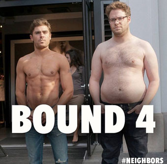 Seth Rogen and Zac Efron Spoof Kimye in 'Bound 4'?