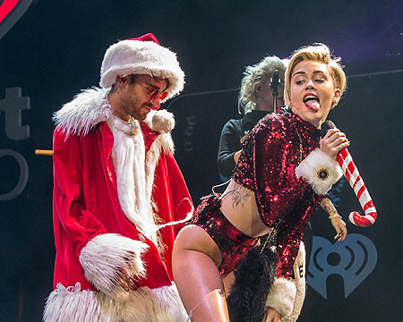 Twerkin' on Santa? Miley Cyrus Not Nice in Naughty Jingle Ball Performance
