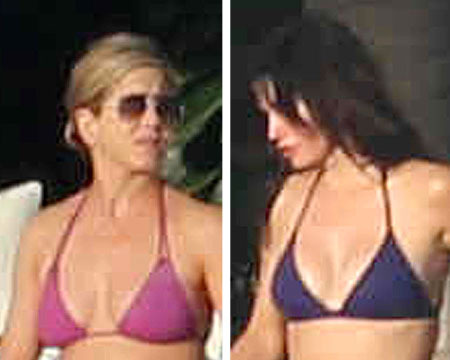 Hot Bikini Bods! Jennifer Aniston and Courteney Cox Vacation Together in Cabo