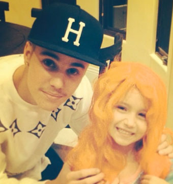 Forget the Egging, Did You See Justin Bieber and His Bewigged Little Sis!