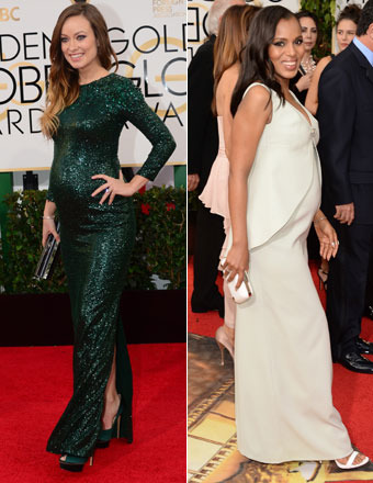 Golden Globes Red Carpet Trends: Baby Bumps, Bobs and Red Hot Fashion