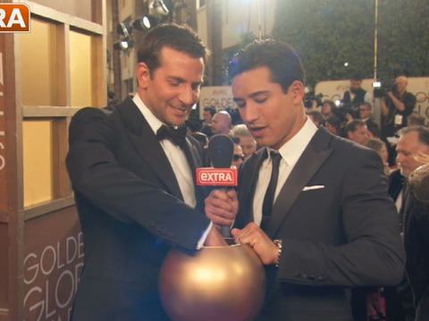 Golden Globes: Celebs Answer Questions from 'Extra's' Mystery Bowl
