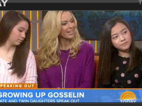 Kate Gosselin Defends Twin Daughters' Awkward S