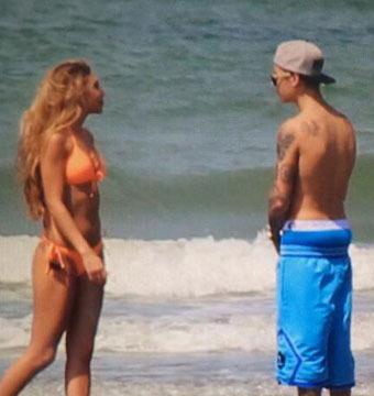 Bieber Alert! Justin Resurfaces on a Beach in Central America