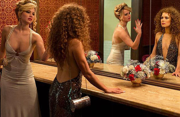 Jennifer Lawrence Stained 'American Hustle' Dress with Doritos