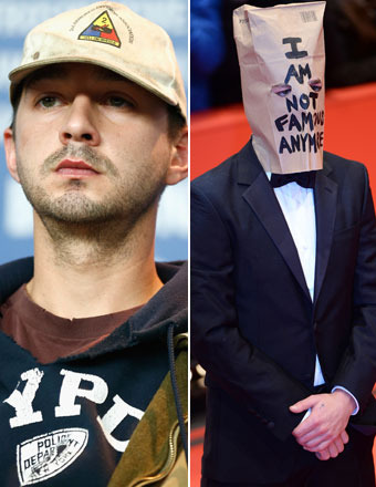 Video! Shia Storms Out of Press Conference, Then Wears Paper Bag on Red Carpet