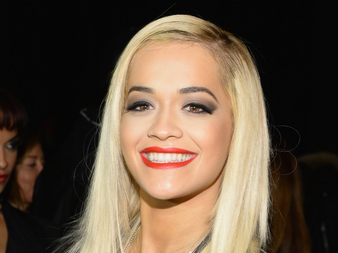 'Fifty Shades' of Wow! Rita Ora Shows Off Cleavage in Sexy Black Dress